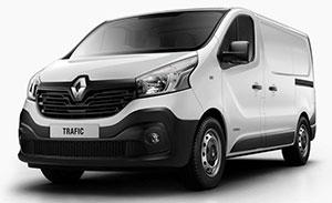 Transporter Renault Trafic, weiß