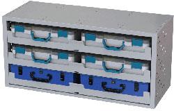 Schubladen Schrank mit 6 Werkzeugkoffern Fahrzeugeinrichtungen Tecnolam