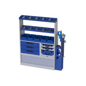 Einbauregal mit Schraubstock für Transporter Iveco Daily