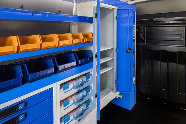 Schrank für Transporter mit Doppeltüren Tecnolam Fahrzeugeinrichtungen