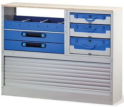 Schubladenschrank mit Arbeitsplatte für Transporter von Tecnolam Fahrzeugeinrichtungen