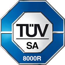 TÜV Logo Zertifizierung SA 8000R Tecnolam Fahrzeugeinrichtungen